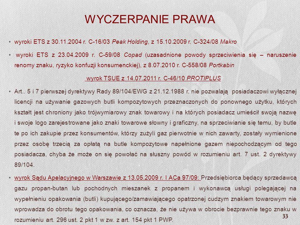 wyrok TSUE z 14.07.2011 r. C-46/10 PROTIPLUS