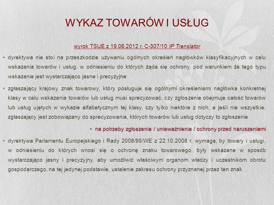 wyrok TSUE z 19.06.2012 r. C-307/10 IP Translator
