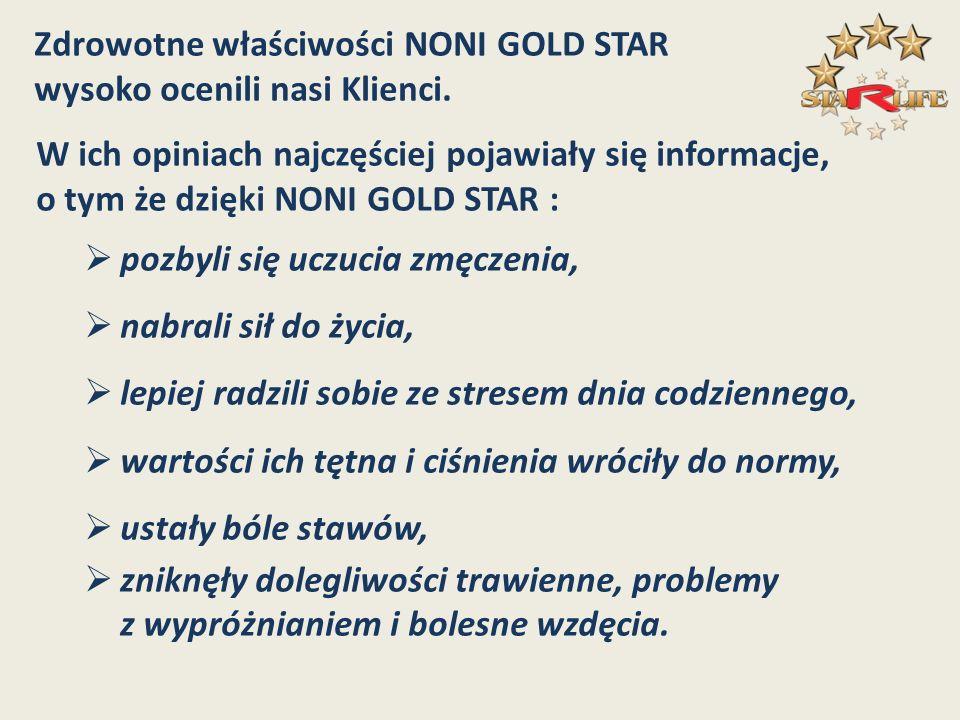 Zdrowotne właściwości NONI GOLD STAR