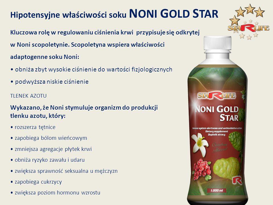 Hipotensyjne właściwości soku NONI GOLD STAR