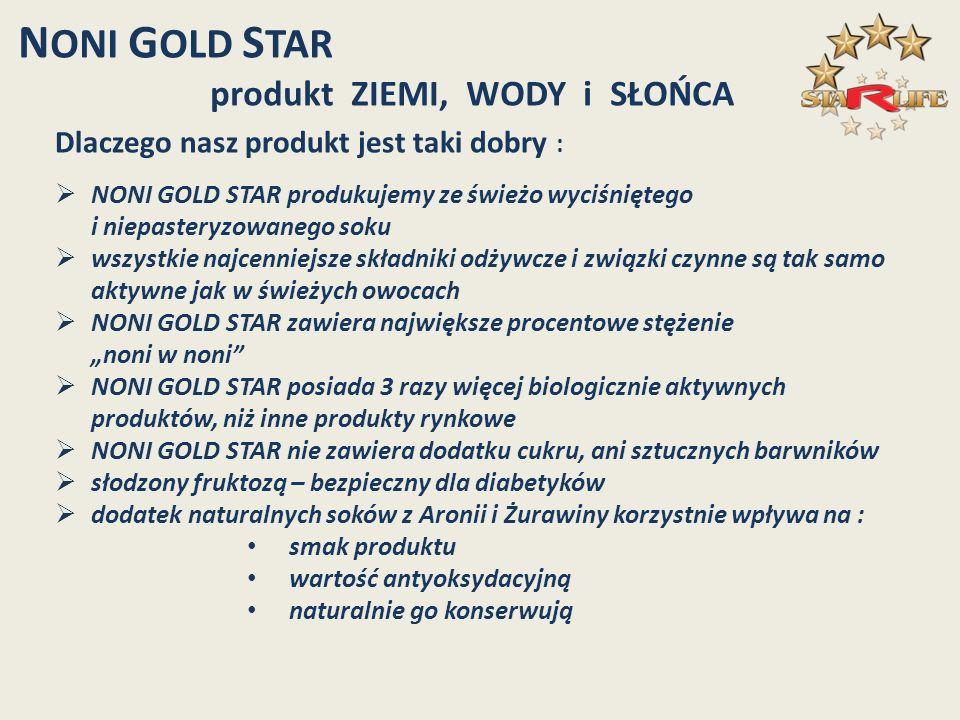 NONI GOLD STAR produkt ZIEMI, WODY i SŁOŃCA