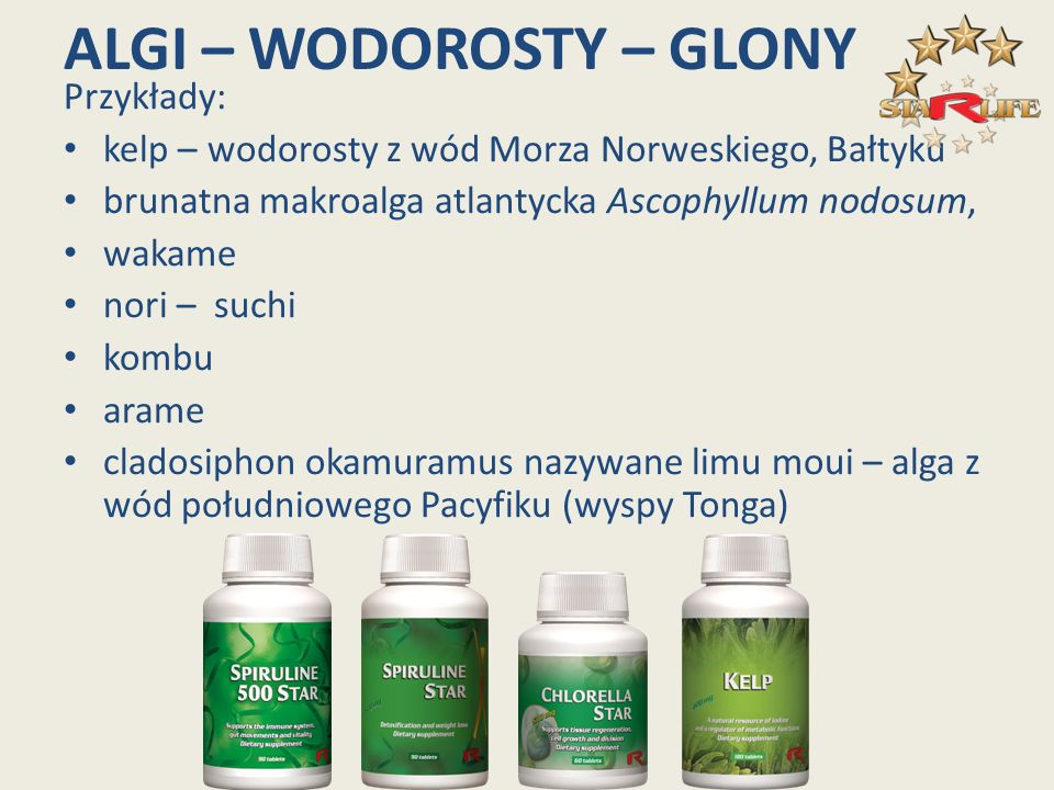 ALGI – WODOROSTY – GLONY