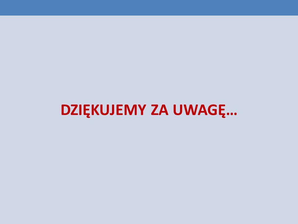DZIĘKUJEMY ZA UWAGĘ…