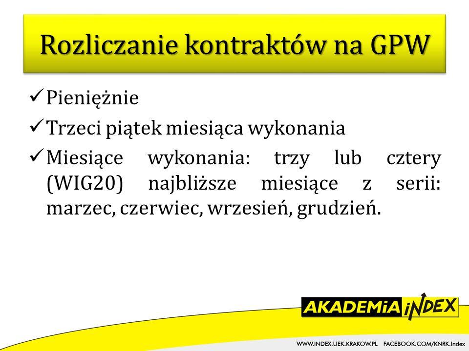 Rozliczanie kontraktów na GPW