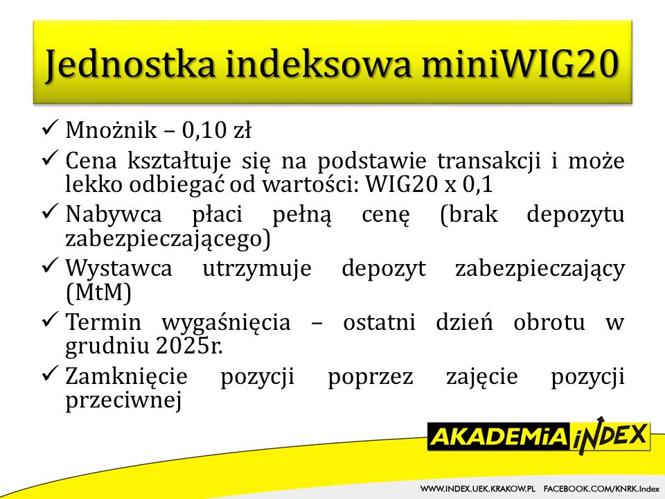 Jednostka indeksowa miniWIG20
