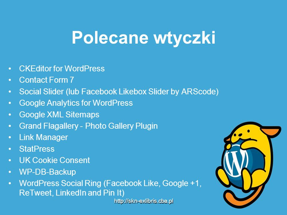 Polecane wtyczki CKEditor for WordPress Contact Form 7