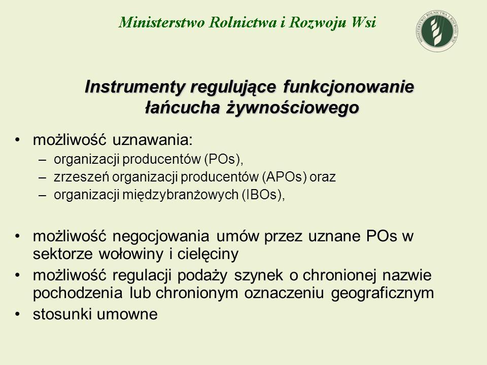 Instrumenty regulujące funkcjonowanie łańcucha żywnościowego