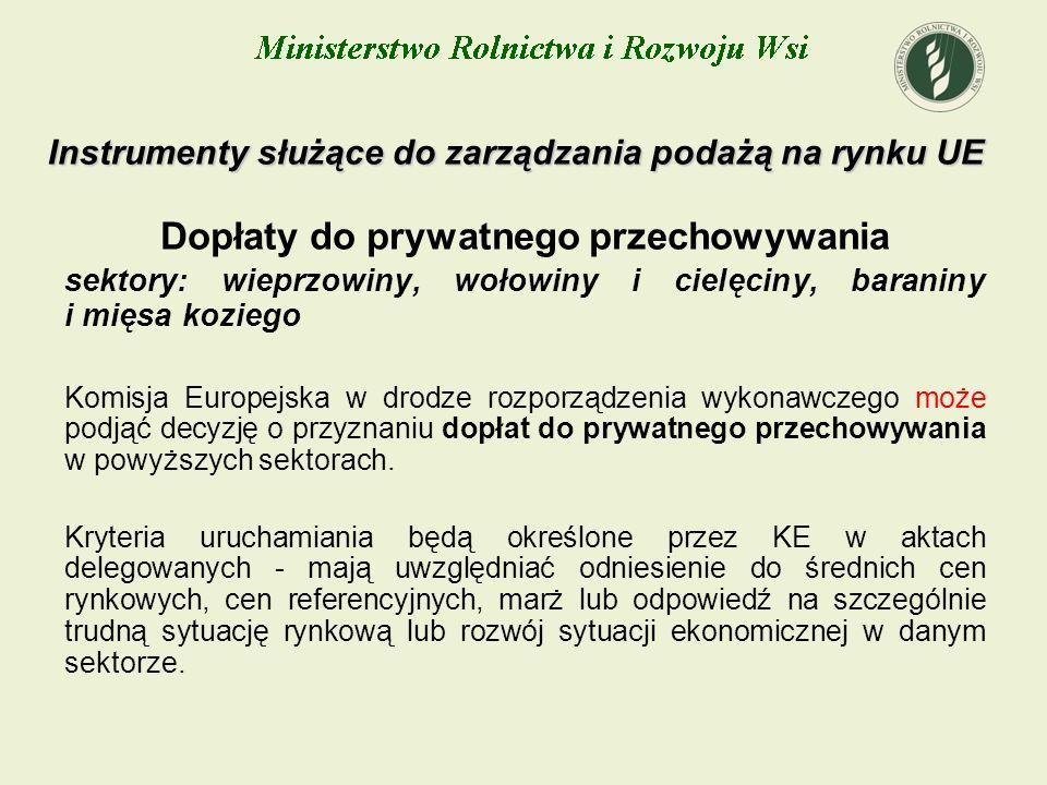 Instrumenty służące do zarządzania podażą na rynku UE