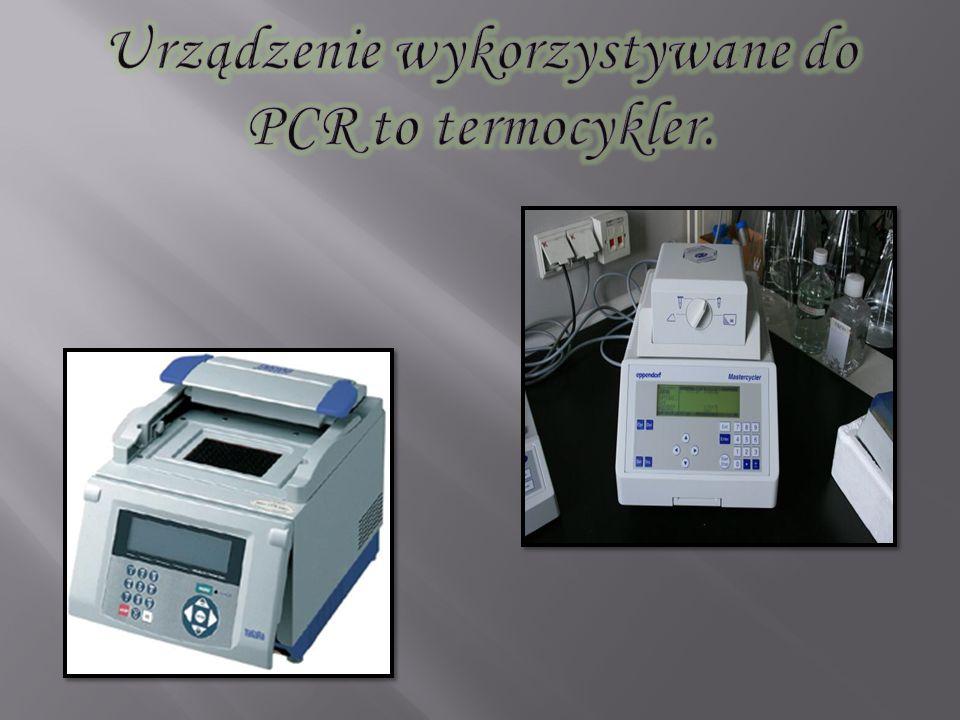 Urządzenie wykorzystywane do PCR to termocykler.