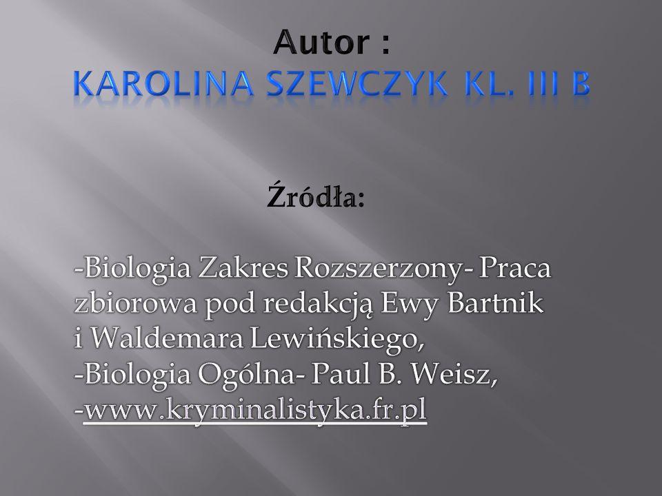 Autor : Karolina Szewczyk kl. III B