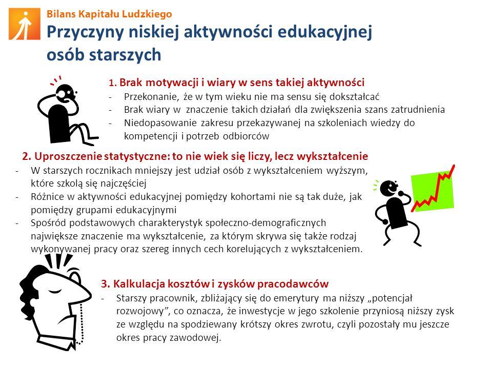 Przyczyny niskiej aktywności edukacyjnej osób starszych
