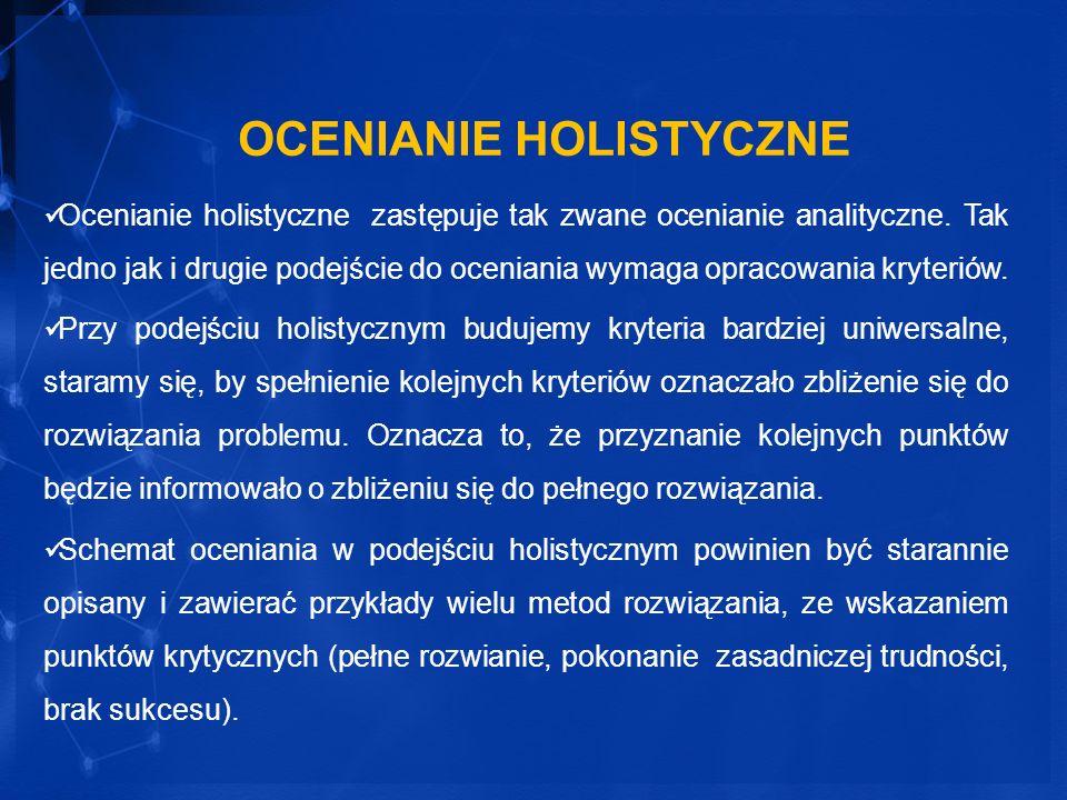 OCENIANIE HOLISTYCZNE