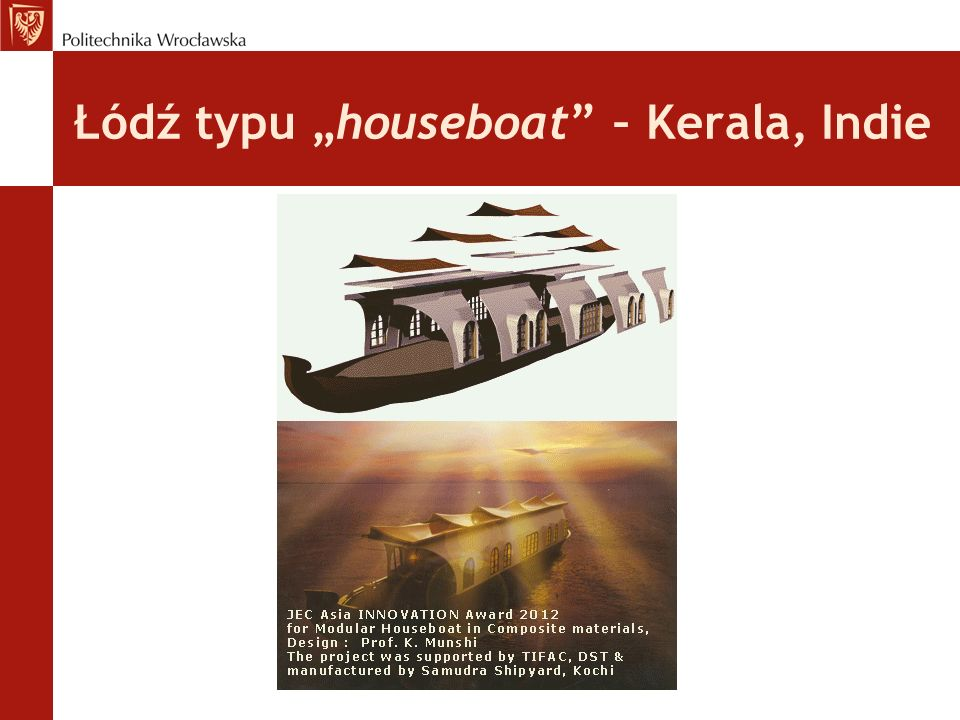 """Łódź typu """"houseboat – Kerala, Indie"""