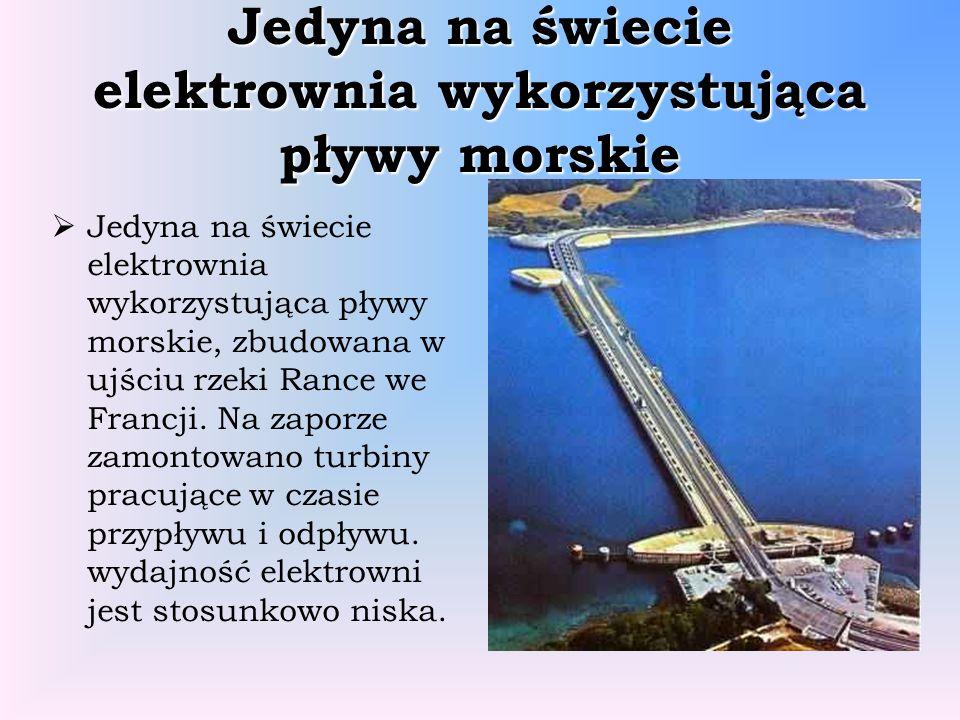 Jedyna na świecie elektrownia wykorzystująca pływy morskie