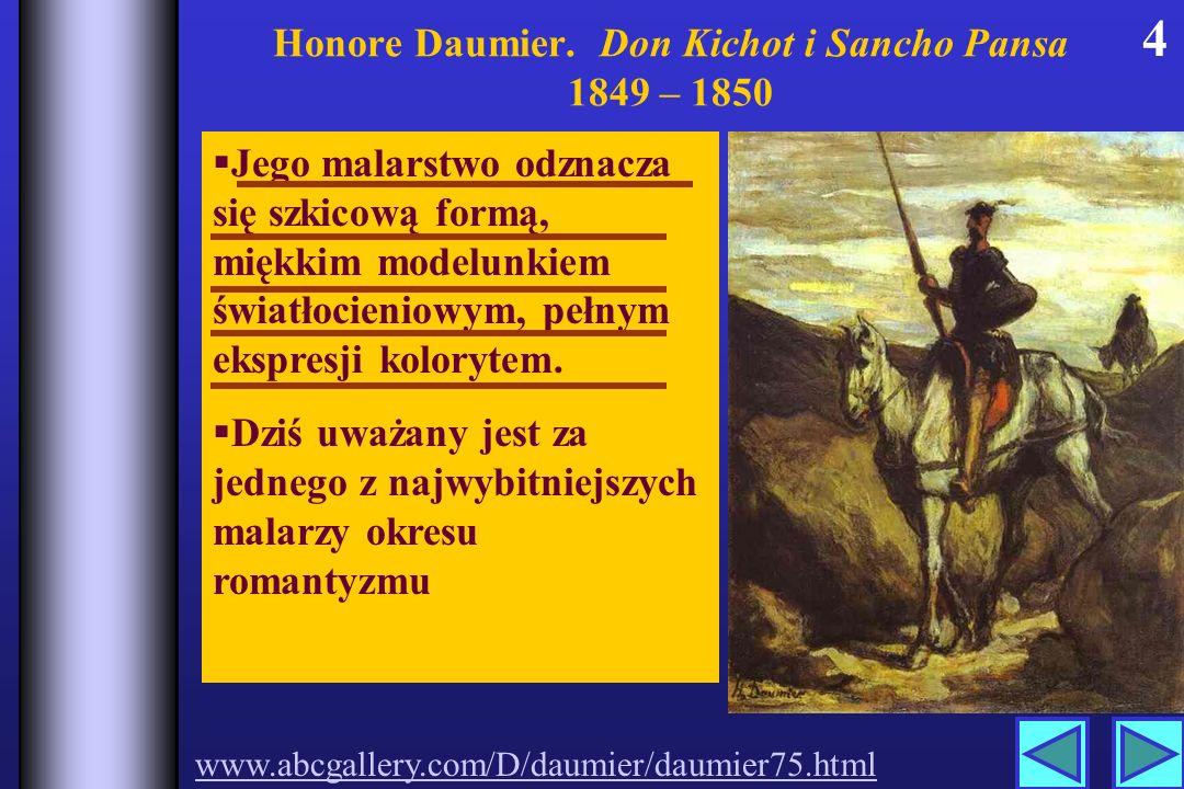 Honore Daumier. Don Kichot i Sancho Pansa 1849 – 1850