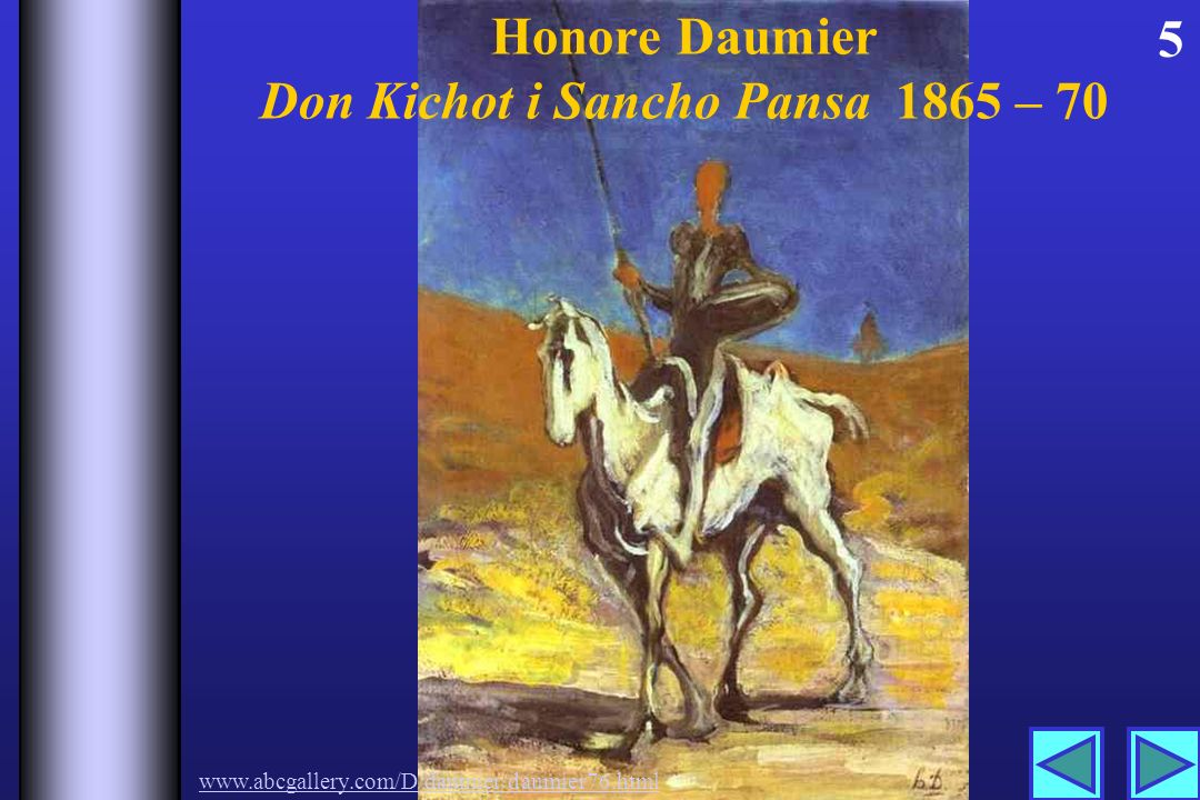 Honore Daumier Don Kichot i Sancho Pansa 1865 – 70