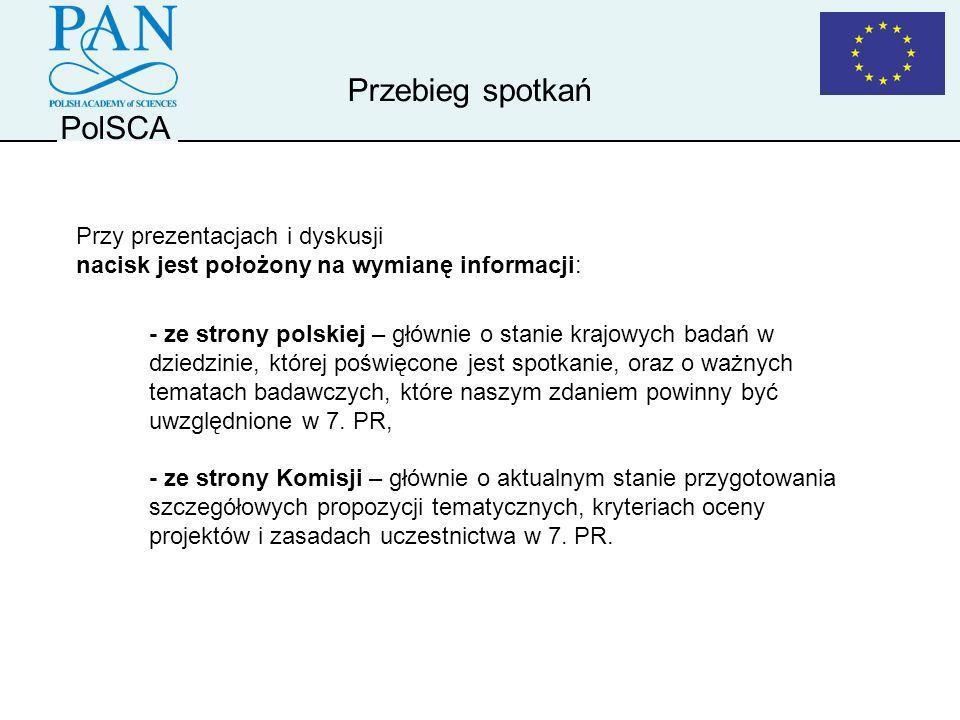 Przebieg spotkań PolSCA Przy prezentacjach i dyskusji