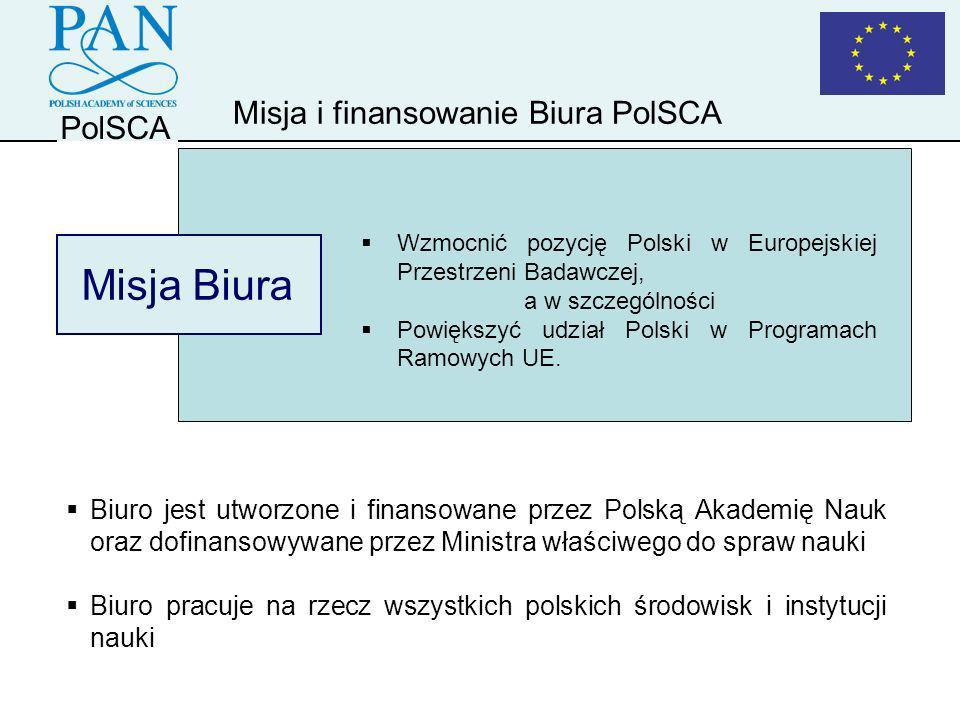 Misja Biura Misja i finansowanie Biura PolSCA PolSCA