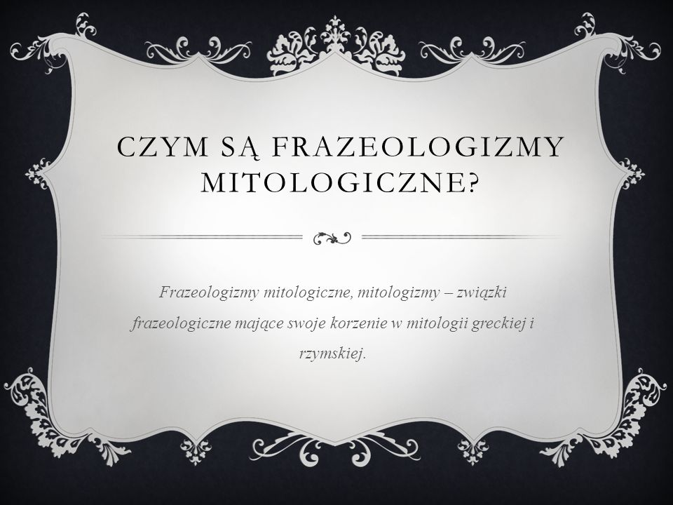 Czym są frazeologizmy mitologiczne