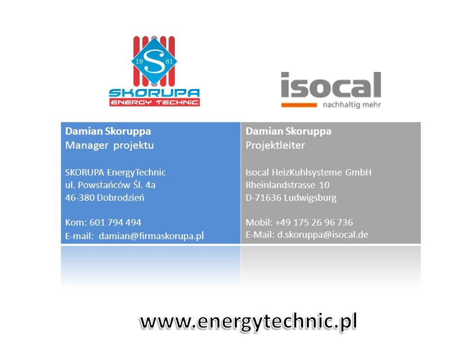 www.energytechnic.pl Damian Skoruppa Manager projektu