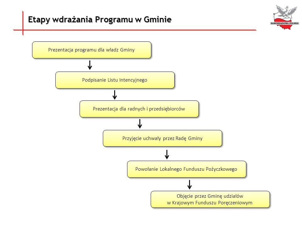 Etapy wdrażania Programu w Gminie