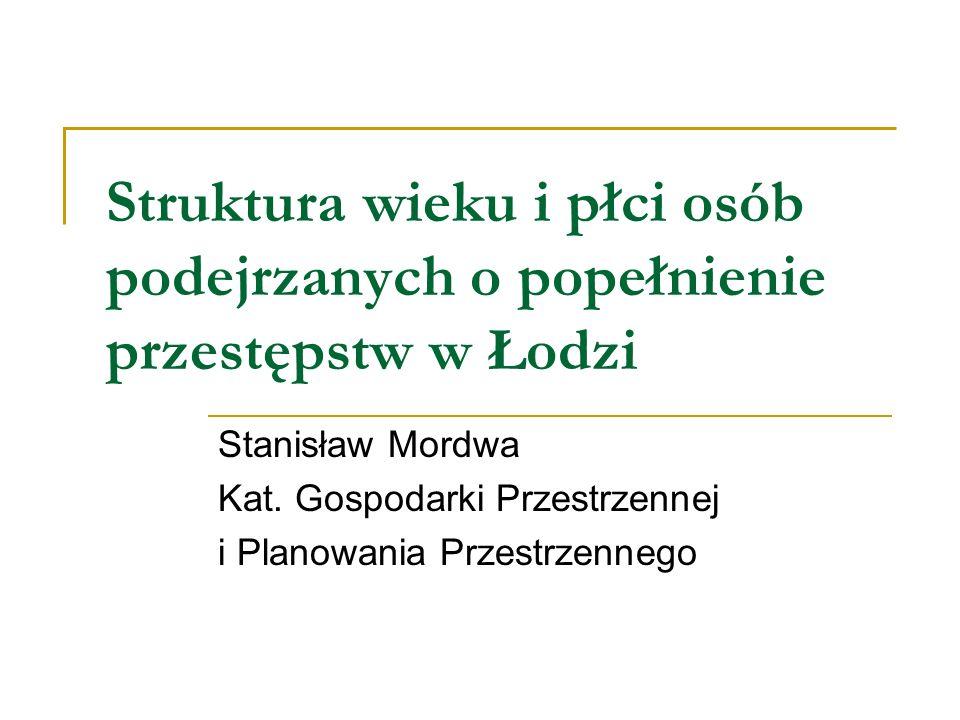 Struktura wieku i płci osób podejrzanych o popełnienie przestępstw w Łodzi