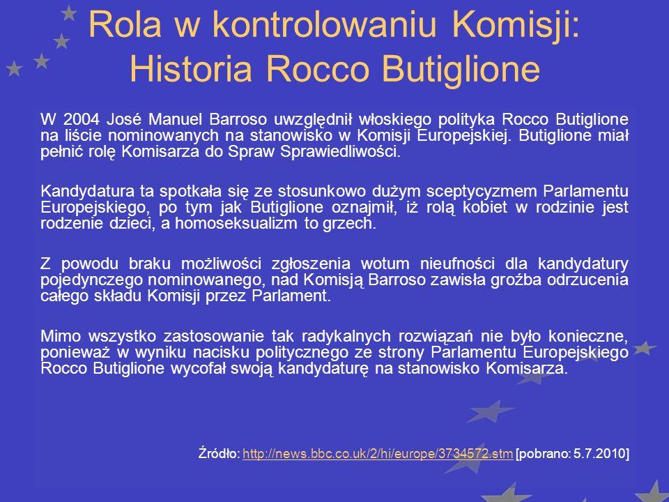 Rola w kontrolowaniu Komisji: Historia Rocco Butiglione