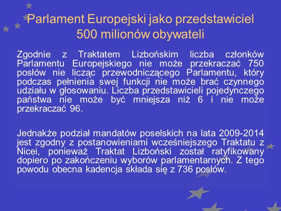 Parlament Europejski jako przedstawiciel 500 milionów obywateli