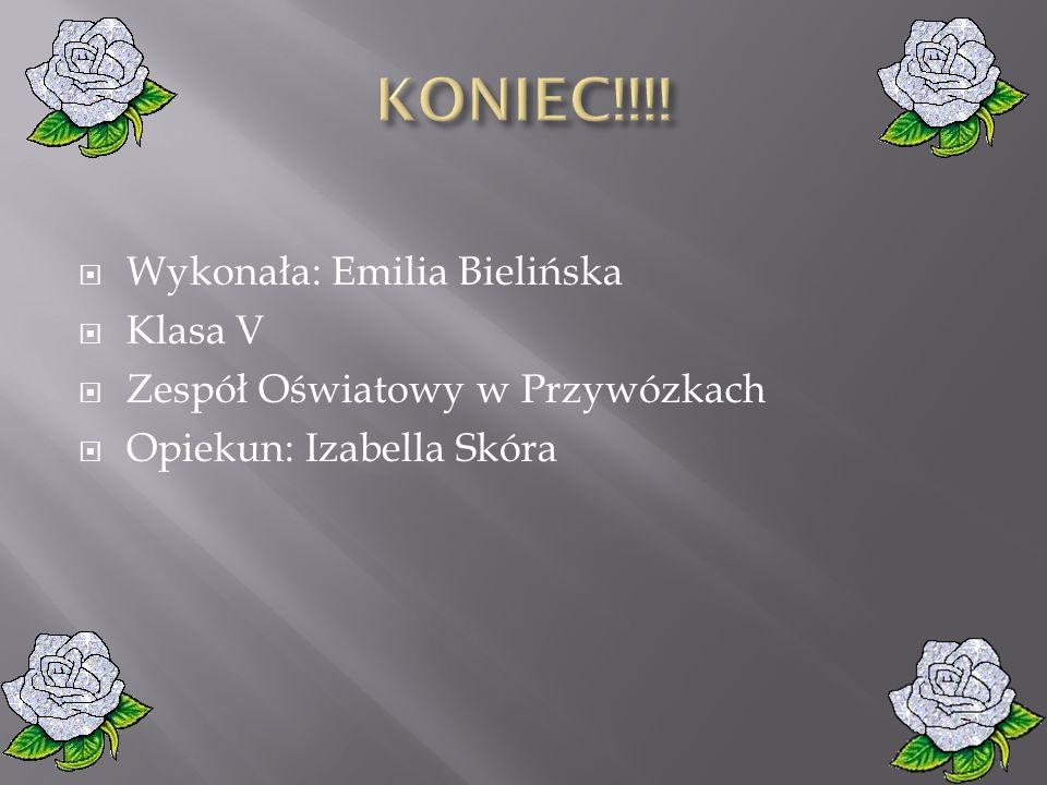 KONIEC!!!! Wykonała: Emilia Bielińska Klasa V