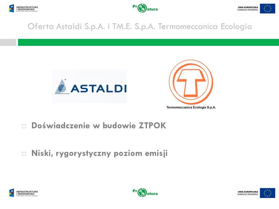 Oferta Astaldi S.p.A. i TM.E. S.p.A. Termomeccanica Ecologia