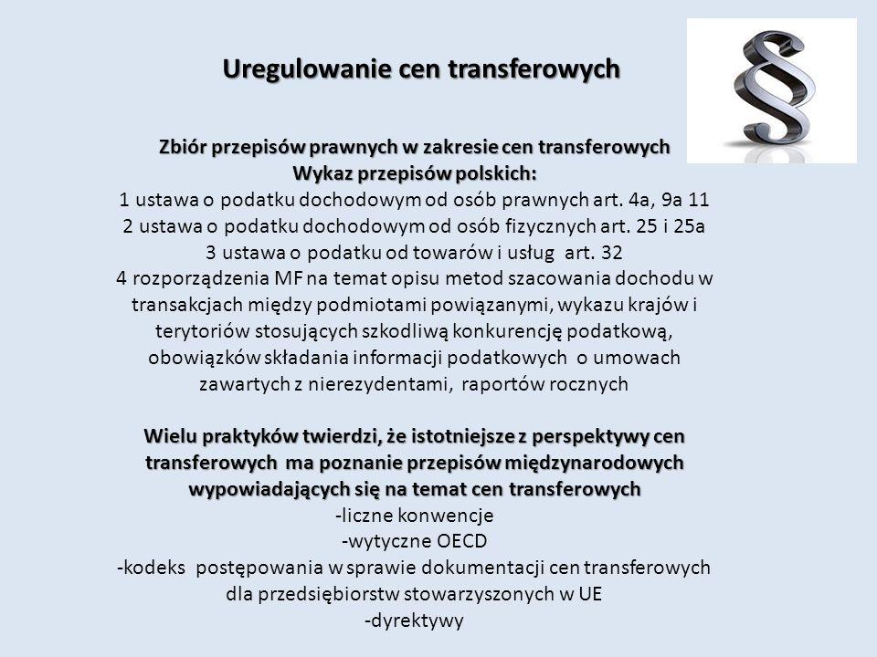 Uregulowanie cen transferowych