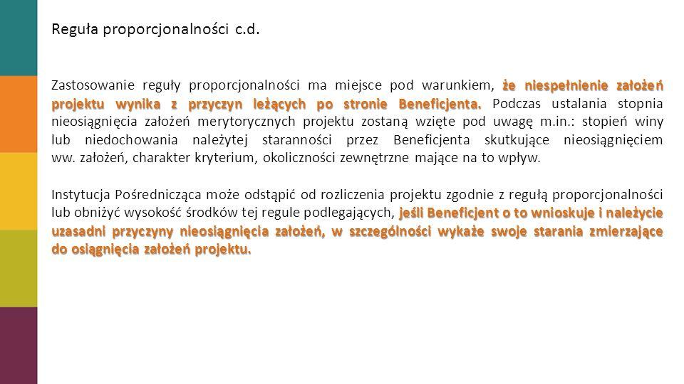 Reguła proporcjonalności c.d.