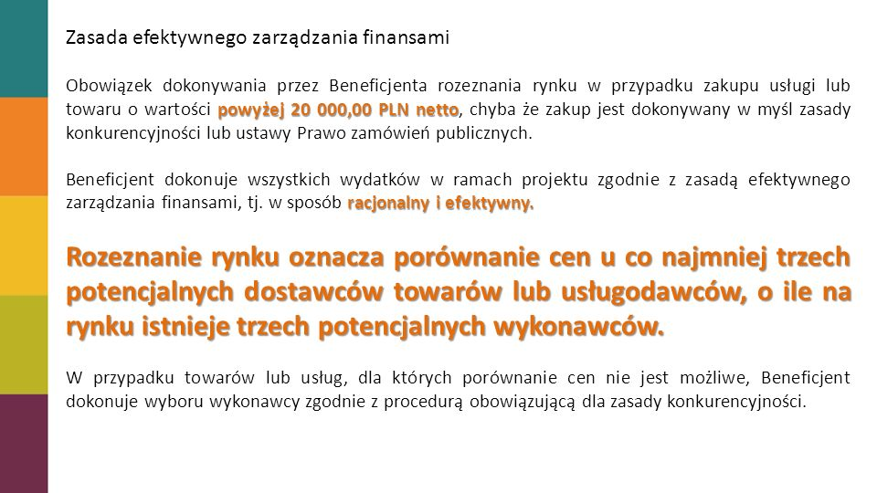 Zasada efektywnego zarządzania finansami
