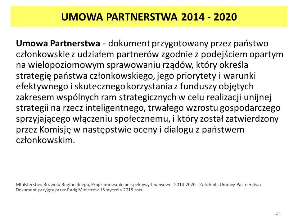 UMOWA PARTNERSTWA 2014 - 2020