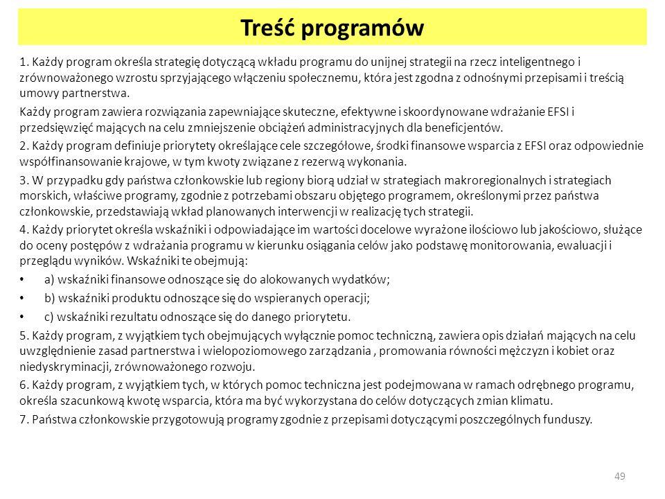 Treść programów