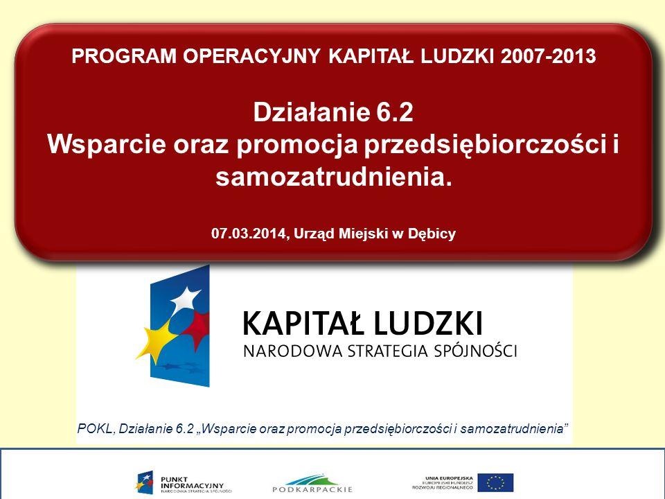 PROGRAM OPERACYJNY KAPITAŁ LUDZKI 2007-2013 Działanie 6