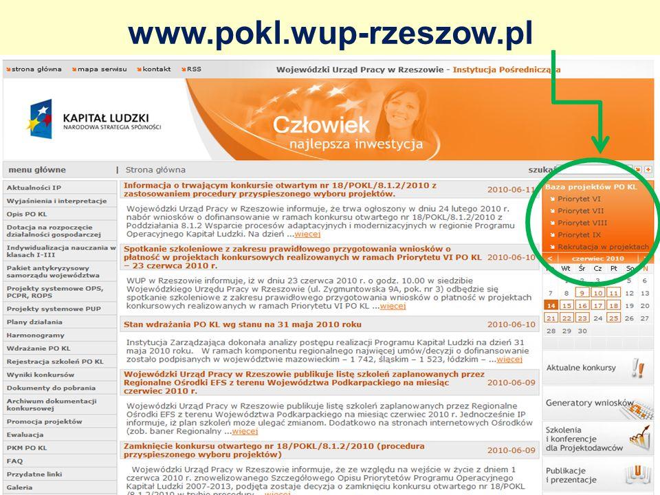 www.pokl.wup-rzeszow.pl
