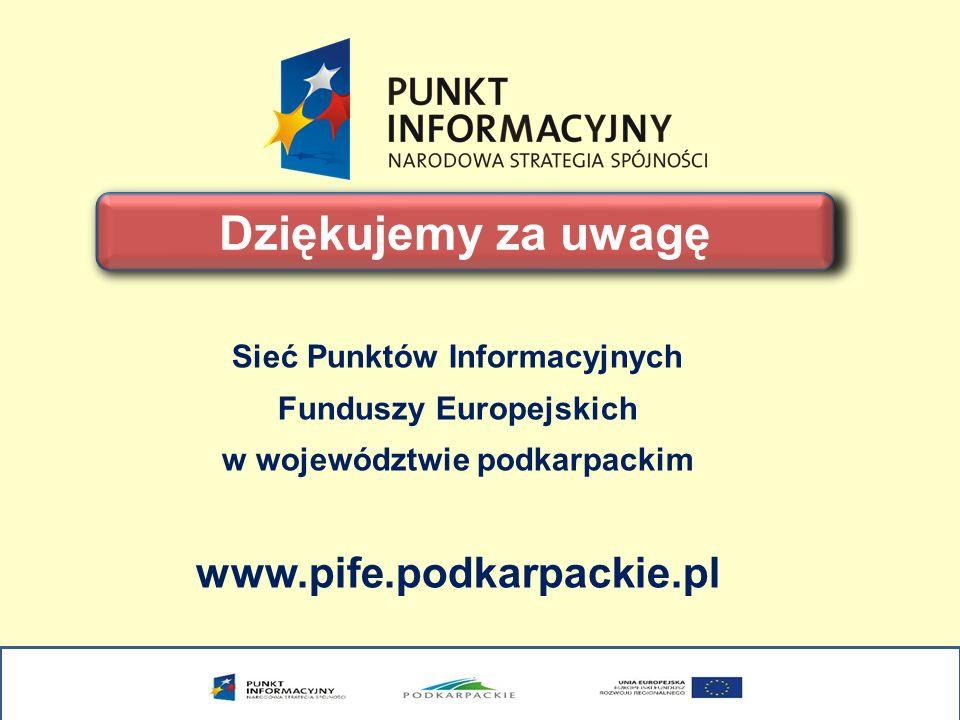 Sieć Punktów Informacyjnych Funduszy Europejskich