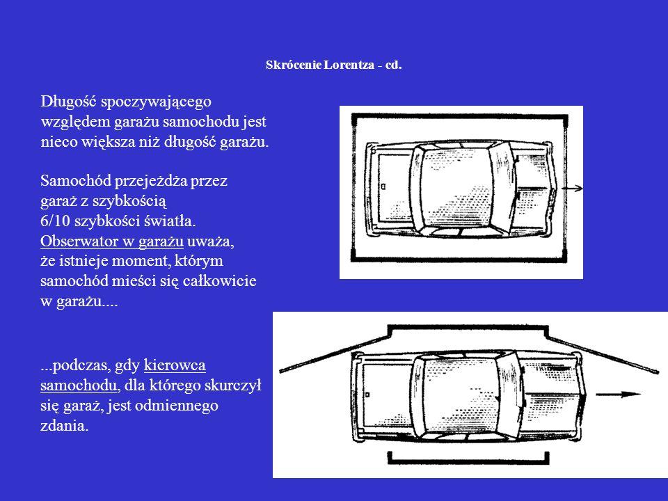 Skrócenie Lorentza - cd.