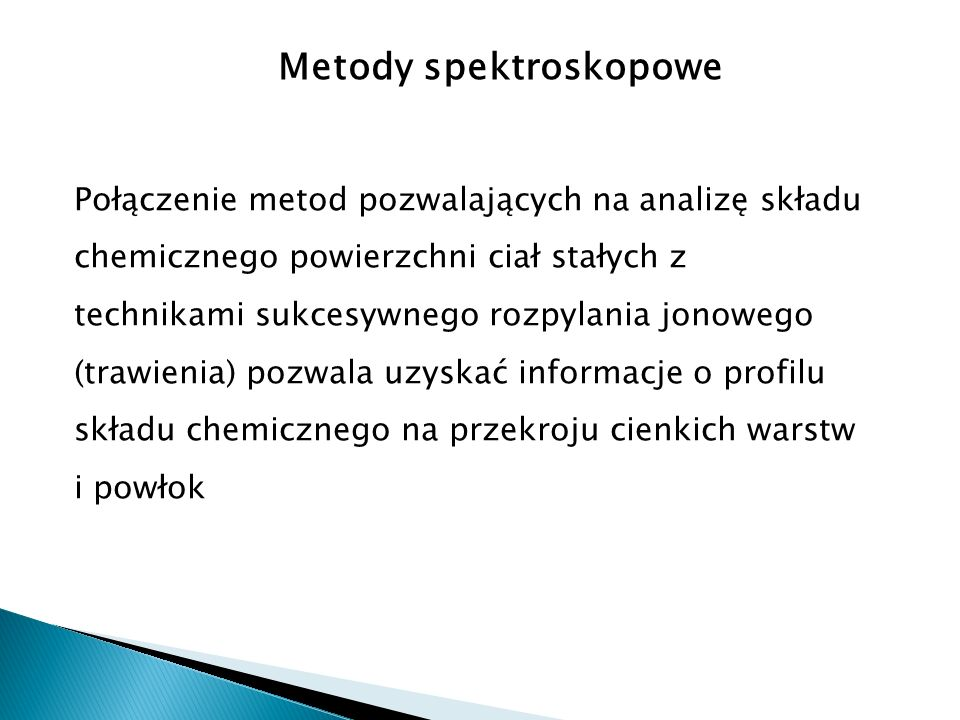 Metody spektroskopowe