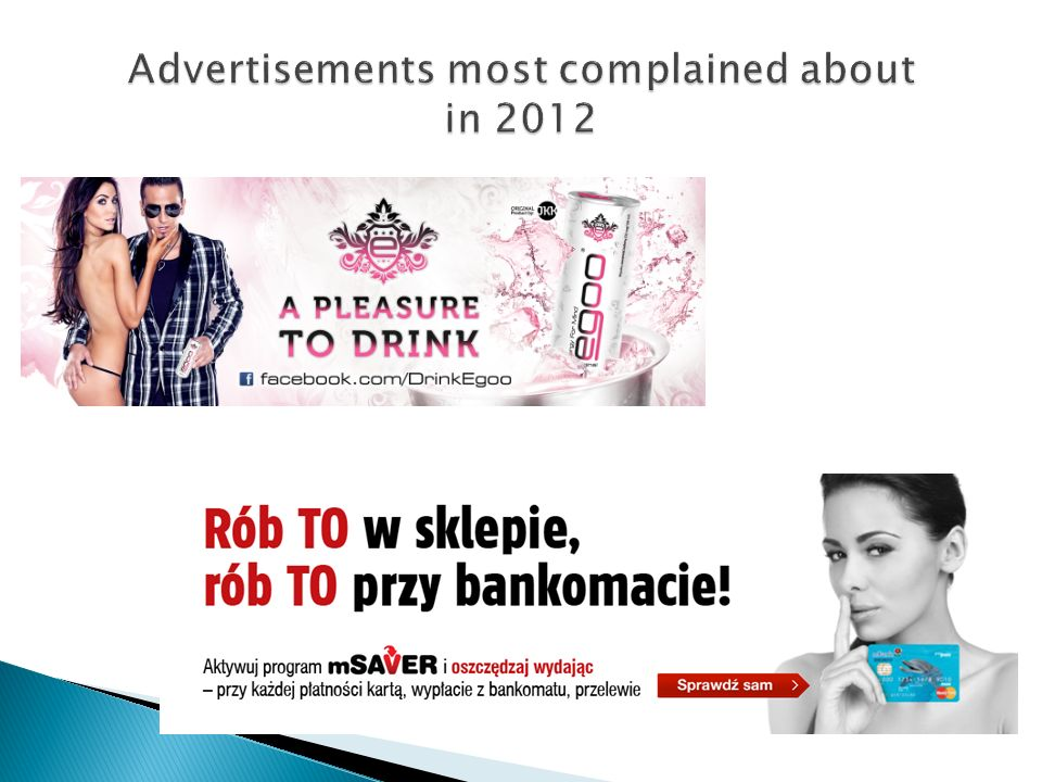 Advertisements most complained about in 2012