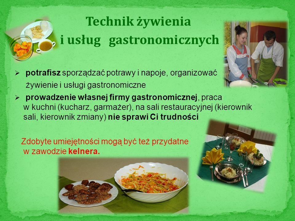 i usług gastronomicznych