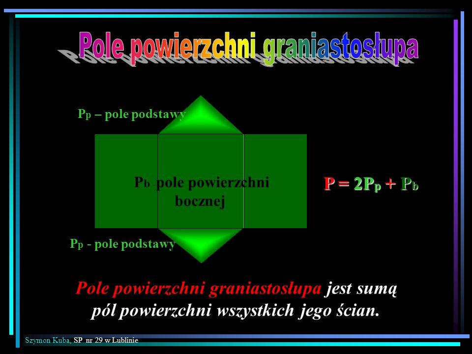 Pb -pole powierzchni bocznej