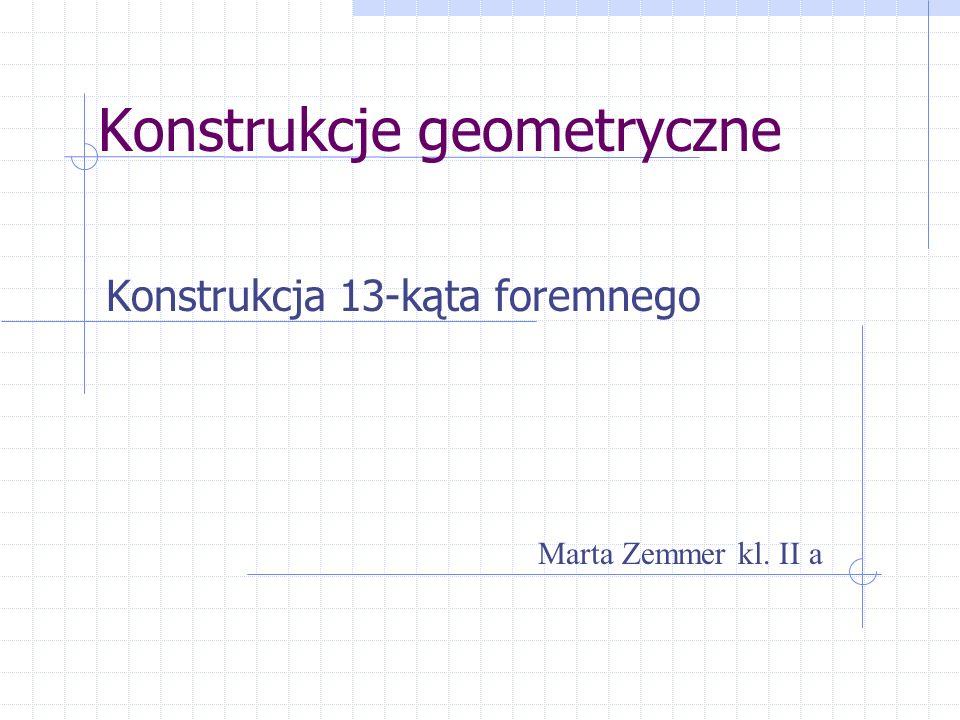 Konstrukcje geometryczne