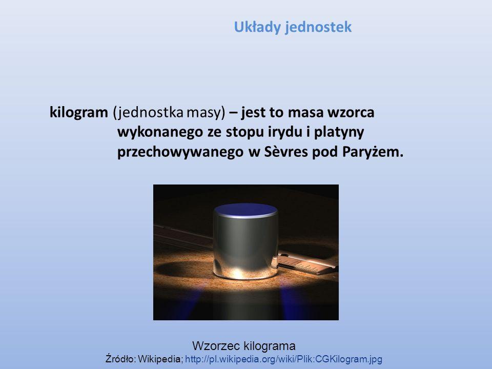 Źródło: Wikipedia; http://pl.wikipedia.org/wiki/Plik:CGKilogram.jpg