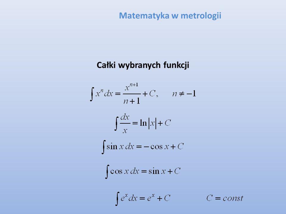 Matematyka w metrologii