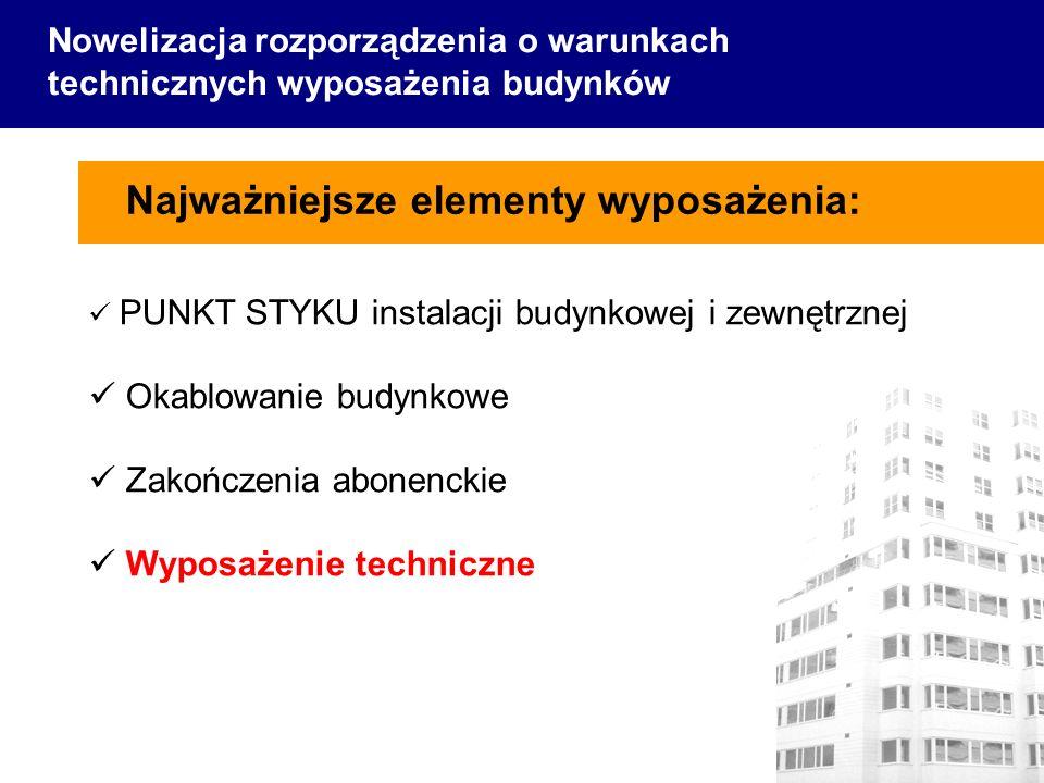 Najważniejsze elementy wyposażenia: