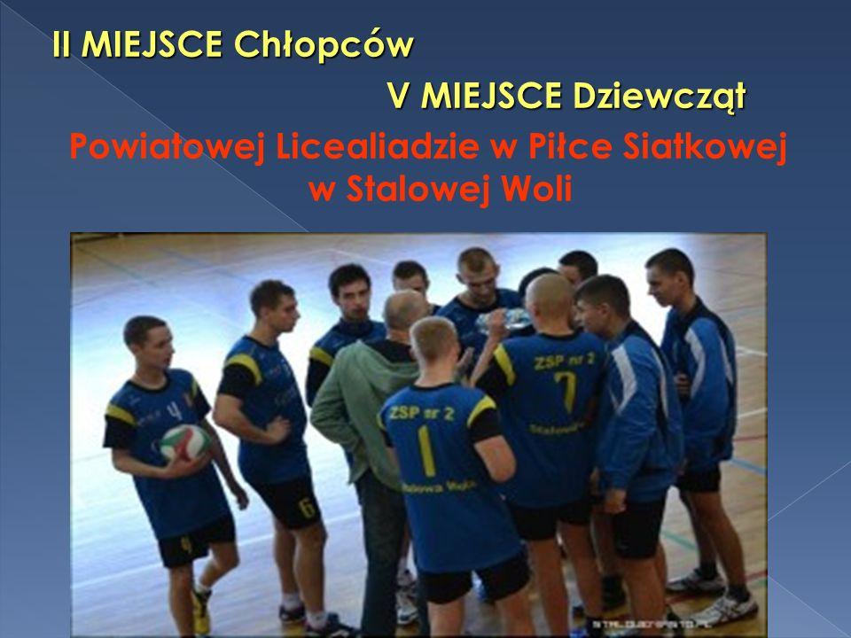 Powiatowej Licealiadzie w Piłce Siatkowej w Stalowej Woli