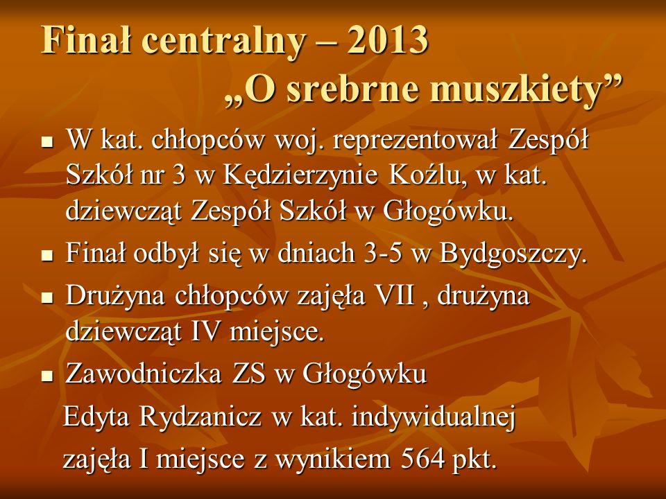 "Finał centralny – 2013 ""O srebrne muszkiety"