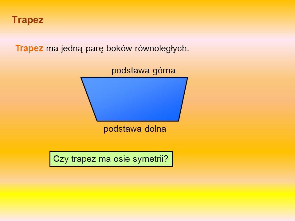 Czy trapez ma osie symetrii